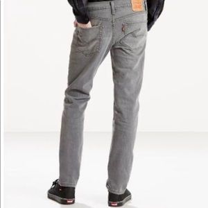 Levi's 511 Slim Fit W28 L32 Grey Washed Jeans